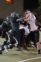 The Harker School - US - Upper School - Harker's US Varsity Football versus Gunn High School - photo by Robert Boucher, parent