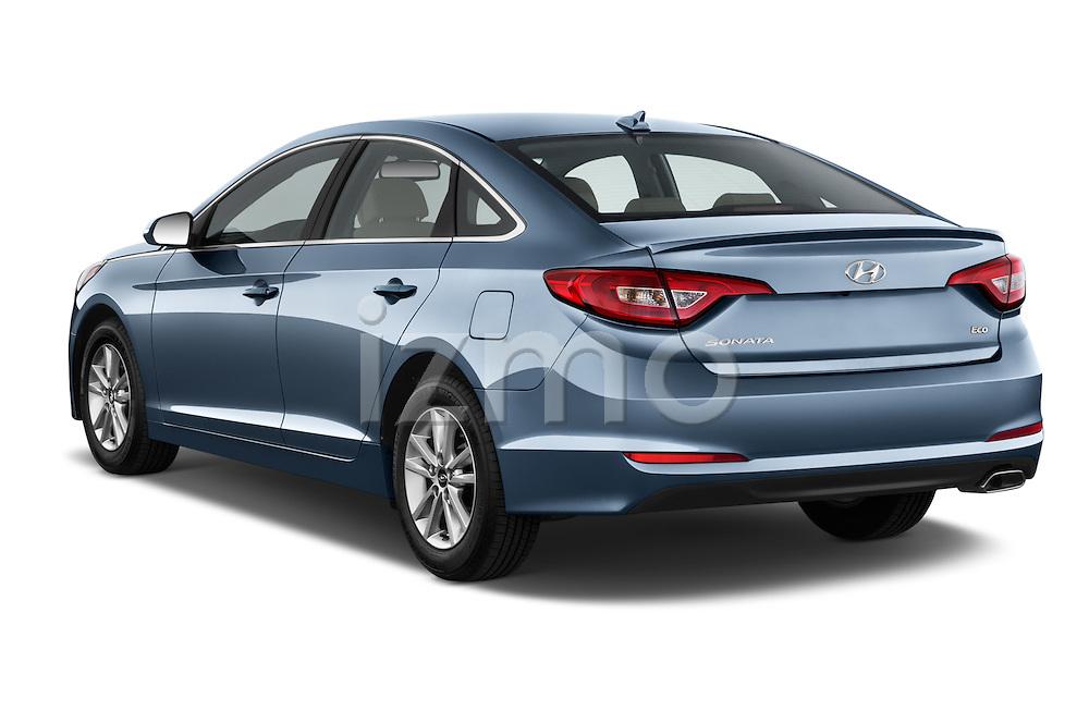 Car pictures of rear three quarter view of 2016 Hyundai Sonata Eco 4 Door Sedan Angular Rear