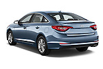 Car pictures of rear three quarter view of 2017 Hyundai Sonata Eco 4 Door Sedan Angular Rear