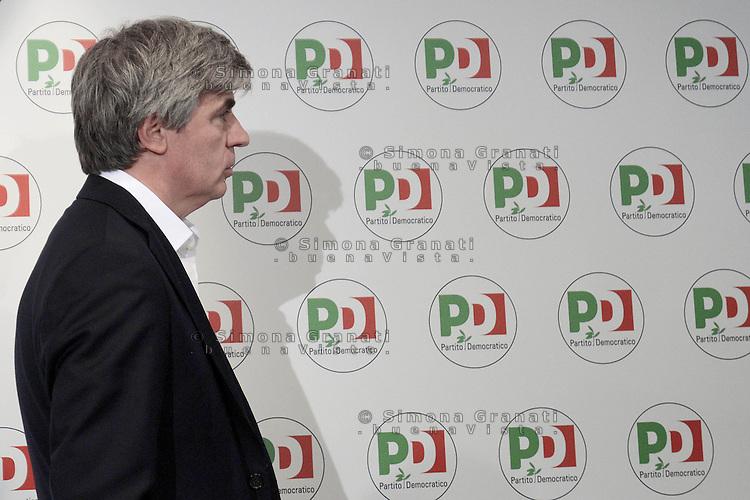 Roma, 6 Novembre 2013<br /> Sede nazionale del Partito Democratico.<br /> Conferenza stampa sulle prime fasi del congresso.<br /> Nella foto: il responsabile dell'organizzazione, Davide Zoggia