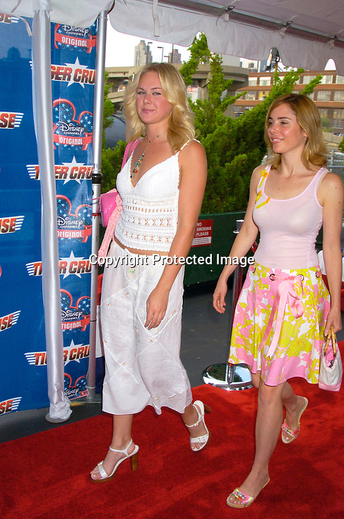 "Laura Bell Bundy and Kerry Butler ..at the New York Premiere of "" Tiger Cruise"" on August 3, 2004 onboard The Intrepid. The movie is a Disney Channel movie . ..Photo by Robin Platzer, Twin Images"
