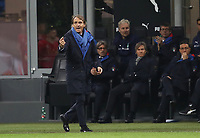 Football: Uefa Nations League Group 3match Italy vs Portugal at Giuseppe Meazza (San Siro) stadium in Milan, on November 17, 2018.<br /> Italy's national team coach Roberto Mancini speaks to his players during the Uefa Nations League match between Italy and Portugal at Giuseppe Meazza (San Siro) stadium in Milan, on November 17, 2018.<br /> UPDATE IMAGES PRESS/Isabella Bonotto