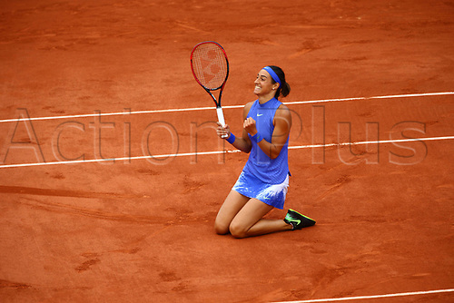 5th June 2017, Roland Garros, Paris, France; French Open tennis championships;  CAROLINE GARCIA (FRA)  during day nine match of the 2017 French Open on June 5, 2017, at Stade Roland-Garros in Paris, France.