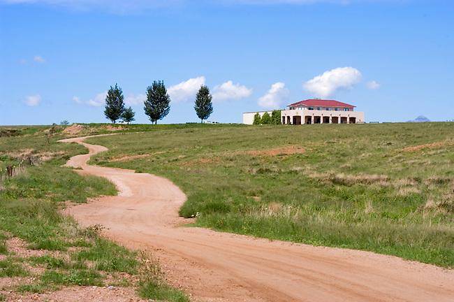 Road to Sonoita Vineyards near Eglin, Arizona, southeast of Tucson