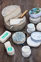 Europe/Europe/France/Midi-Pyrénées/46/Lot/Saint-Sulpice: Les Fromages de chèvre de la Ferme du Mas de Thomas: Cabecous, AOP Rocamadour, Tomme de Chèvre, Crottin, ......