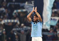 Football, Serie A: S.S. Lazio - Napoli, Olympic stadium, Rome, January 11, 2020.<br /> Lazio's Ciro Immobile celebrates after winning 1-0 the Italian Serie A football match between S.S. Lazio and Napoli at Rome's Olympic stadium, Rome , on January 11, 2020.<br /> UPDATE IMAGES PRESS/Isabella Bonotto