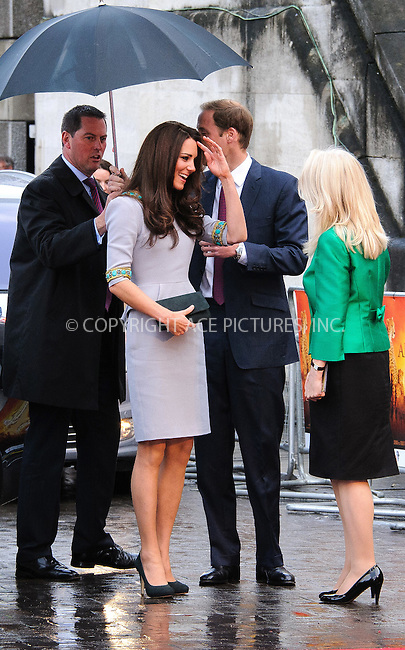 WWW.ACEPIXS.COM . . . . .  ..... . . . . US SALES ONLY . . . . .....April 25 2012, London....Kate Middleton, Catherine, Duchess of Cambridge and Prince William, Duke of Cambridge at the premiere of 'African Cats' in aid of Tusk at the BFI Southbank in London ....Please byline: FAMOUS-ACE PICTURES... . . . .  ....Ace Pictures, Inc:  ..Tel: (212) 243-8787..e-mail: info@acepixs.com..web: http://www.acepixs.com