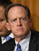 """United States Senator Pat Toomey (Republican of Pennsylvania) listens during a US Senate Committee on Finance hearing on """"Individual Tax Reform"""" on Capitol Hill in Washington, DC on Thursday, September 14, 2017.<br /> Credit: Ron Sachs / CNP"""