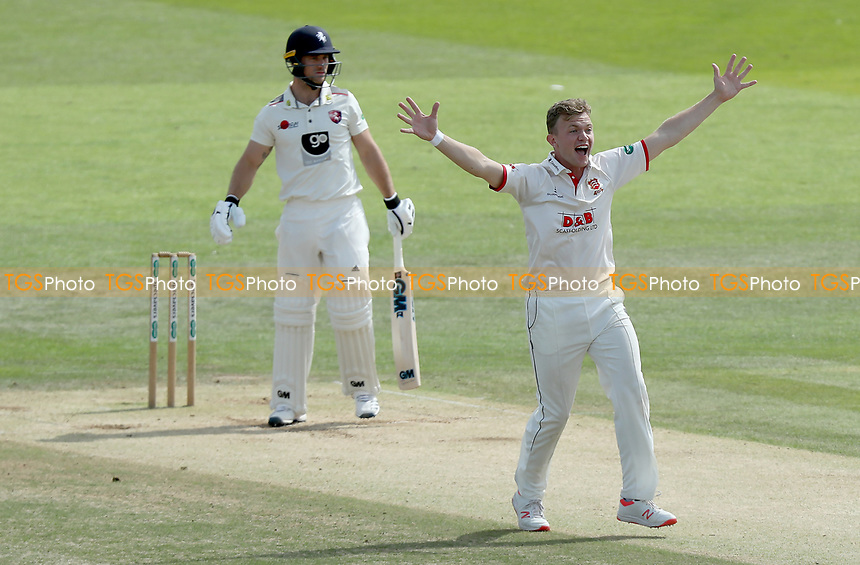 Sam Cook of Essex appeals for the wicket of Sean Dickson during Kent CCC vs Essex CCC, Specsavers County Championship Division 1 Cricket at the St Lawrence Ground on 20th August 2019