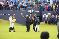 A proud Brendan Lowry with the Claret Jug after son Shane Lowry (IRL) wins the Championship by 6 shots at the end of Sunday's Final Round of the 148th Open Championship, Royal Portrush Golf Club, Portrush, County Antrim, Northern Ireland. 21/07/2019.<br /> Picture Eoin Clarke / Golffile.ie<br /> <br /> All photo usage must carry mandatory copyright credit (© Golffile | Eoin Clarke)