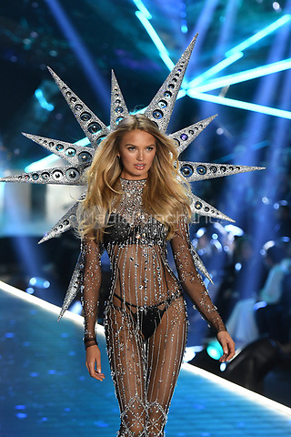 NEW YORK, NY - NOVEMBER 08: Romee Strijd at the 2018 Victoria's Secret Fashion Show at Pier 94 on November 8, 2018 in New York City. Credit: John Palmer/MediaPunch
