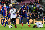 Paulinho Maciel of FC Barcelona (R) fights for the ball with Daniel Parejo Munoz of Valencia CF (L) during the Copa Del Rey 2017-18 match between FC Barcelona and Valencia CF at Camp Nou Stadium on 01 February 2018 in Barcelona, Spain. Photo by Vicens Gimenez / Power Sport Images