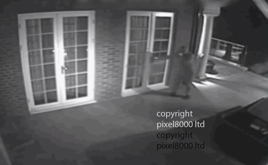 """Pic shows:  CCTV of burglar breaking into home of Lilly Becker wife of Boris <br /> <br /> """"I will do anything to protect my family but what can I do I am just a skinny little woman"""" she told the show<br /> <br /> <br /> CCTV of burglary caught red handed on CCTV as he burgles homes of rich and famous in Wimbledon - including tennis legend Boris Becker<br /> <br /> He's been captured on camera breaking into several multi-million pound homes in south London. He targets the rich and famous and detectives believe he's responsible for over one hundred and forty offences, including at the family home of tennis legend Boris Becker.<br /> <br /> For the past 7 years he's targeted many properties in the Wimbledon area. He spends several days plotting a route into a house, and cuts CCTV cables around the properties so he is not seen. He doesn't take that much the first time he enters, and often the owners of properties are unaware that they have been burgled. The suspect often uses ladders to scale fences and break in through upstairs windows.<br /> CCTV images show him as far back as 2008, in some of the footage he has his hand to his mouth. Officers think he was recording notes on a dictaphone that he can then use the next time he breaks in. On the 29th March last year he burgled a home in Bathgate Road, Wimbledon, he got away with a quantity of cash and jewellery. He was caught on CCTV when he opened a door, he was clearly not expecting to see the camera.<br /> In another clip he's seen casually walking around a kitchen where he takes his time inspecting drawers. The intruder wears a tracksuit, gloves and a hat.<br /> In October this year the burglar was caught on CCTV attempting to get into the home of Boris Becker on Wimbledon Common. This was about 00:50hrs. The alarm goes off, and he escapes. But officers know he's tried to gain entry to the house on another occasion afterwards.<br /> <br /> <br /> <br /> <br /> Picture by BBC  - Pixel8000 07917221968"""