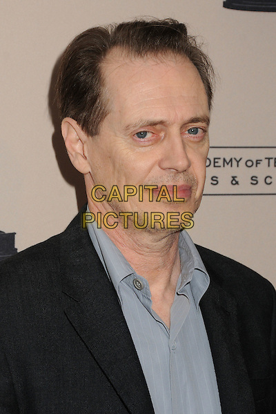 "Steve Buscemi.An Evening With ""Boardwalk Empire"" Presented by the Academy of Television Arts & Sciences held at the Leonard H. Goldenson Theatre, North Hollywood, California, USA..April 26th, 2012.headshot portrait black grey gray.CAP/ADM/BP.©Byron Purvis/AdMedia/Capital Pictures."