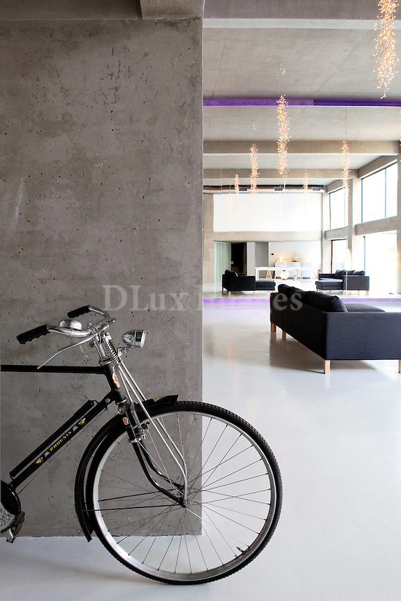 bicycle inside the house