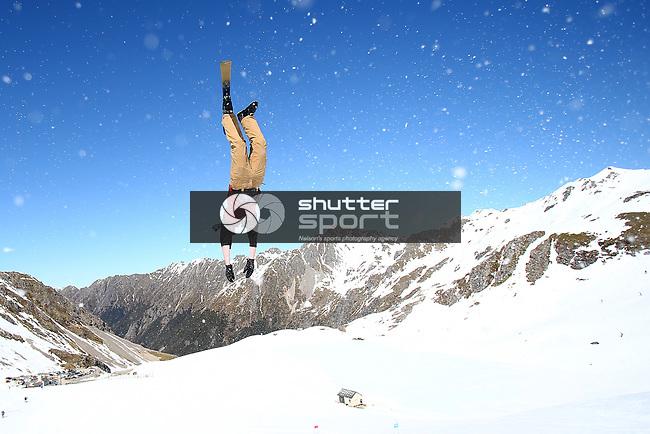 NELSON, NEW ZEALAND - SEPTEMBER 15:  Cheapskates Ski Competition on September 15 2018 in Rainbow Ski Field  Nelson, New Zealand. (Photo by: Evan Barnes Shuttersport Limited)