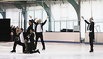 competetors Jonathan Hunt and his partner actress Sean Young  perform at Ice Theatre of New York's Celeb Skate 2013 on June 9, 2013 at the Sky Rink at Chelsea Piers, New York City, New York. (Photo by Sue Coflin/Max Photos)