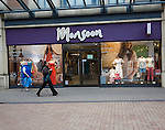Monsoon women's clothing shop in central business district of Swindon, England