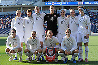 The Starting XI.  The U.S. Women's National Team defeated Italy 1-0 at Toyota Park in Bridgeview, IL on November 27, 2010 to advance to the Women's World Cup in Germany.