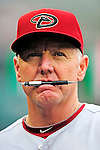 15 August 2010: Arizona Diamondbacks batting coach Jack Howell stands in the dugout prior to a game against the Washington Nationals at Nationals Park in Washington, DC. The Nationals defeated the Diamondbacks 5-3 to take the rubber match of their 3-game series. Mandatory Credit: Ed Wolfstein Photo