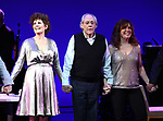 """Lucie Arnaz, Robert Klein and Debbie Gravitte during the curtain call bows for """"They're Playing Our Song"""" Concert Benefit for The Actors Fund at the Music Box Theatre on February 11, 2019 in New York City."""