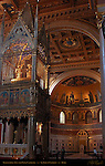 Baldachino Giovanni da Stefano 1367 Papal Cathedra Apse Mosaics 4th-13th centuries Gilded Coffered Ceiling 16th century St John in Lateran Rome