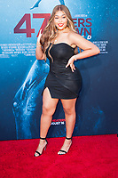 Los Angeles, CA - AUGUST 13th: <br /> Jordyn Woods attends the 47 Meters Down: Uncaged premiere at the Regency Village Theater on August 13th 2019. Credit: Tony Forte/MediaPunch