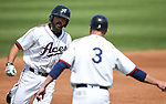 Reno Aces&rsquo; Cody Decker goes 4-4 with two homers and a double against the Fresno Grizzlies in Reno, Nev., on Monday, April 9, 2018. Fresno won 11-5.<br />