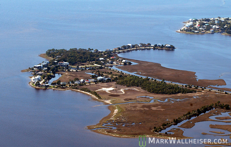 Aerial photo of Live Oak Island in coastal Wakulla county near Crawfordville south of Tallahassee March 2, 2004.    (Mark Wallheiser/TallahasseeStock.com)