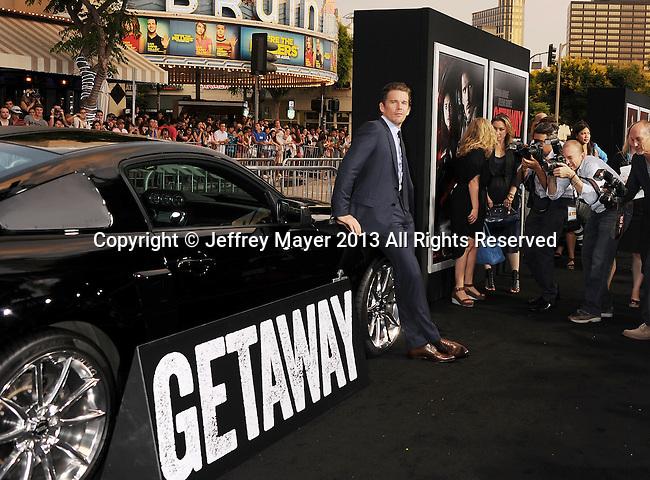 WESTWOOD, CA- AUGUST 26: Actor Ethan Hawke arrives at the 'Getaway' - Los Angeles Premiere at Regency Village Theatre on August 26, 2013 in Westwood, California.