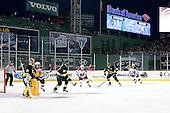 - The University of Massachusetts (Amherst) Minutemen defeated the University of Vermont Catamounts 3-2 in overtime on Saturday, January 7, 2012, at Fenway Park in Boston, Massachusetts.