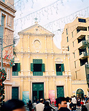 CHINA, Macau, Asia, colonial church of St Dominic, Senado Square, UNESCO world heritage site, catholic