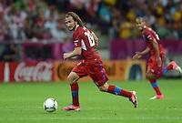 FUSSBALL  EUROPAMEISTERSCHAFT 2012   VIERTELFINALE Tschechien - Portugal              21.06.2012 Petr Jiracek (Tschechische Republik) Einzelaktion am Ball