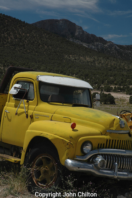 Old Yellow Truck Photo