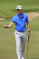 Jordan Niebrugge (USA) sinks his putt on the 5th green during Saturday's Round 3 of the 117th U.S. Open Championship 2017 held at Erin Hills, Erin, Wisconsin, USA. 17th June 2017.<br /> Picture: Eoin Clarke | Golffile<br /> <br /> <br /> All photos usage must carry mandatory copyright credit (&copy; Golffile | Eoin Clarke)