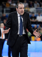 Asefa Estudiantes' coach Txus Vidorreta during Spanish Basketball King's Cup match.February 07,2013. (ALTERPHOTOS/Acero) /NortePhoto