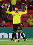 Watford's Etienne Capoue celebrates scoring his sides opening goal during the Carabao cup match at Vicarage Road Stadium, Watford. Picture date 22nd August 2017. Picture credit should read: David Klein/Sportimage