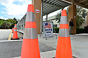 MIRAMAR, FL - MARCH 17: A sign directs voters to a polling location during the Florida presidential primary on March 17, 2020 in Miramar, Florida. People are heading to the polls to vote for their Republican and Democratic choice in their parties' respective primaries during the COVID-19 outbreak where United States death toll from the virus passed 100. black voters carried Biden to his projected Florida win during Super Tuesday III in Miramar, Florida.  ( Photo by Johnny Louis / jlnphotography.com )