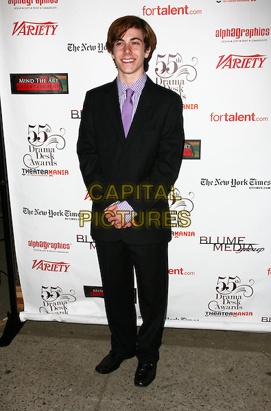 HENRY HODGES.The 55th Annual Drama Desk Award at FH LaGuardia Concert Hall at Lincoln Center on May 23, 2010 in New York City, New York, NY, USA..May 23rd, 2010.full length purple tie black suit.CAP/ADM/PZ.©Paul Zimmerman/AdMedia/Capital Pictures.