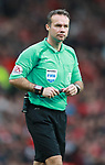 Referee Paul Tierney during the premier league match at the Old Trafford Stadium, Manchester. Picture date 15th April 2018. Picture credit should read: Simon Bellis/Sportimage
