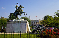 General Andrew Jackson Equestrian statue near the White House in Washington DC, USA