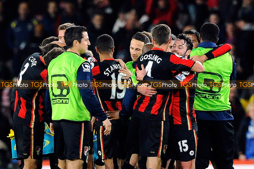 AFC Bournemouth players cellarage their win during AFC Bournemouth vs Manchester United at the Vitality Stadium
