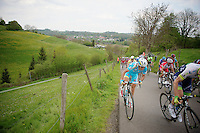 Vincenzo Nibali (ITA/Astana) up the &lsquo;steepest climb&rsquo; in Holland: Keutenberg (max 22%)<br /> <br /> Amstel Gold Race 2014