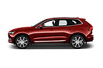 Car driver side profile view of a 2018 Volvo XC60 Inscription T8 eAWD Plug-in Hybrid 5 Door SUV