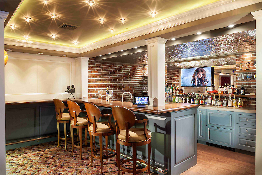 Theater Entertainment Area and Bar adds convenience. Don't worry about going all the way to the kitchen for a mid-movie snack!
