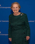Former United States Secretary of State Madeleine Albright arrives for the 2019 White House Correspondents Association Annual Dinner at the Washington Hilton Hotel on Saturday, April 27, 2019.<br /> Credit: Ron Sachs / CNP<br /> <br /> <br /> (RESTRICTION: NO New York or New Jersey Newspapers or newspapers within a 75 mile radius of New York City)