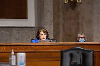 United States Senator Dianne Feinstein (Democrat of California) speaks during the U.S. Senate Committee on the Judiciary hearing on Capitol Hill in Washington D.C., U.S.,  as they consider the nomination of Cory Wilson to be United States Circuit Judge For The Fifth Circuit on Wednesday, May 20, 2020.  Credit: Stefani Reynolds / CNP/AdMedia