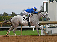 LEXINGTON, KY - APRIL 6: #2, Almithmaar, ridden by Jose Ortiz breaks his maiden at Keeneland Race Course on April 6, 2018 in Lexington, KY. (Photo by Jessica Morgan/Eclipse Sportswire/Getty Images)