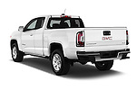 Car pictures of rear three quarter view of 2016 GMC Canyon 2WD SLE Extended Cab 4 Door Pick-up Angular Rear