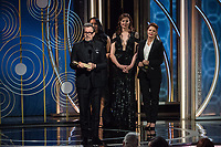Actor Gary Oldman accepts the Golden Globe Award for BEST PERFORMANCE BY AN ACTOR IN A MOTION PICTURE &ndash; DRAMA for his role in &quot;Darkest Hour&quot; at the 75th Annual Golden Globe Awards at the Beverly Hilton in Beverly Hills, CA on Sunday, January 7, 2018.<br /> *Editorial Use Only*<br /> CAP/PLF/HFPA<br /> &copy;HFPA/PLF/Capital Pictures